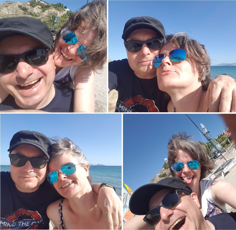 Mann und Frau genießen das Leben
