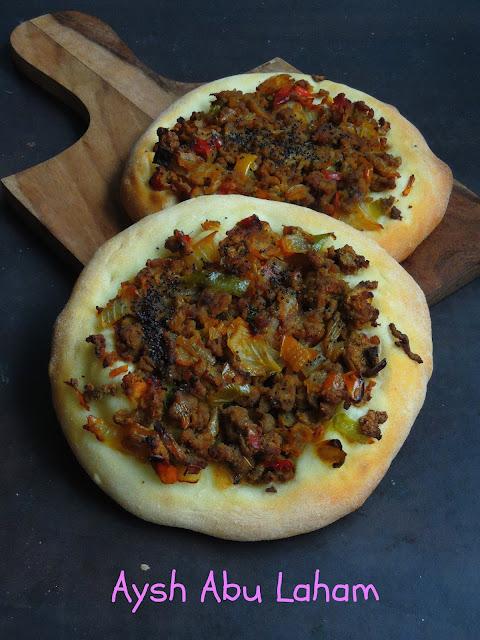 Aysh Abu Laham, Saudi Vegetarian Pizza