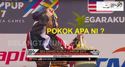 Penyampaian Pingat Emas Sukan SEA Kuala Lumpur