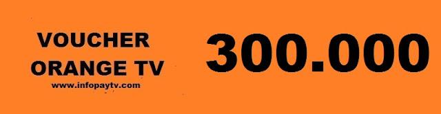 Voucher Orange TV 300 Ribu