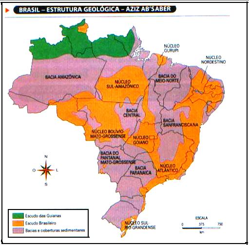 Panorama Geográfico Do Brasil Estrutura Geológica Do Brasil