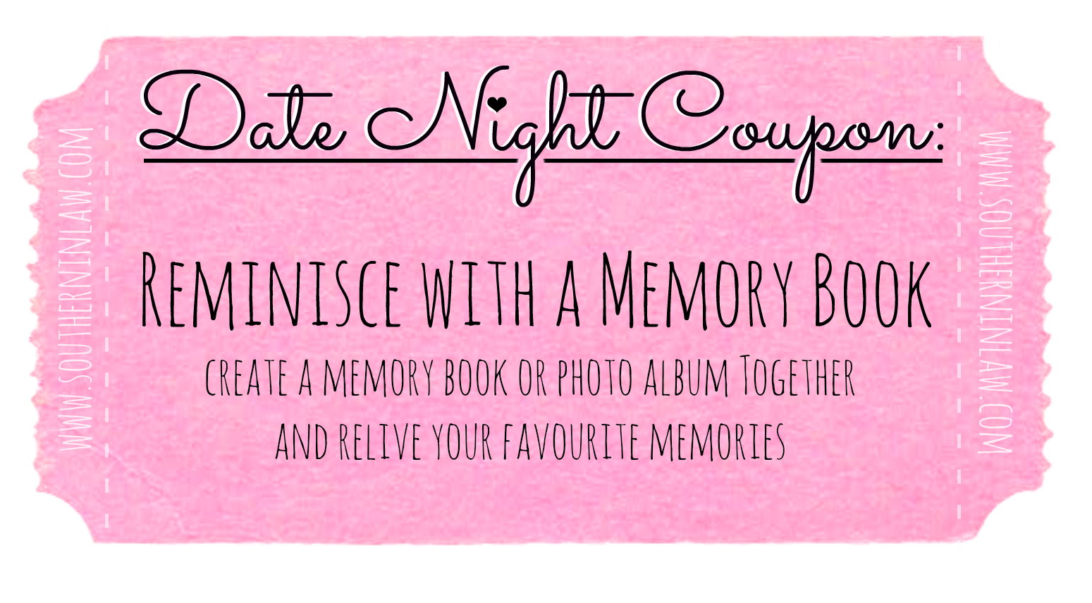 Affordable Date Ideas - Cheap Date Ideas Coupons - Create a memory book