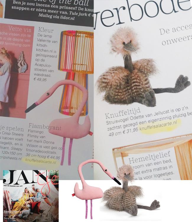 Knuffels a la carte in Jantje Magazine