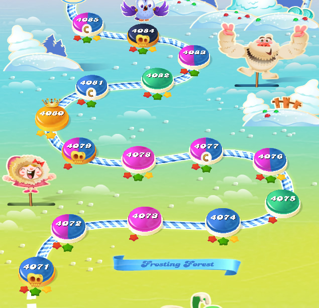 Candy Crush Saga level 4071-4085