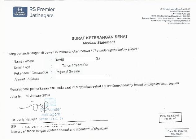 Proses Membuat Surat Keterangan Sehat Di Rs Premier