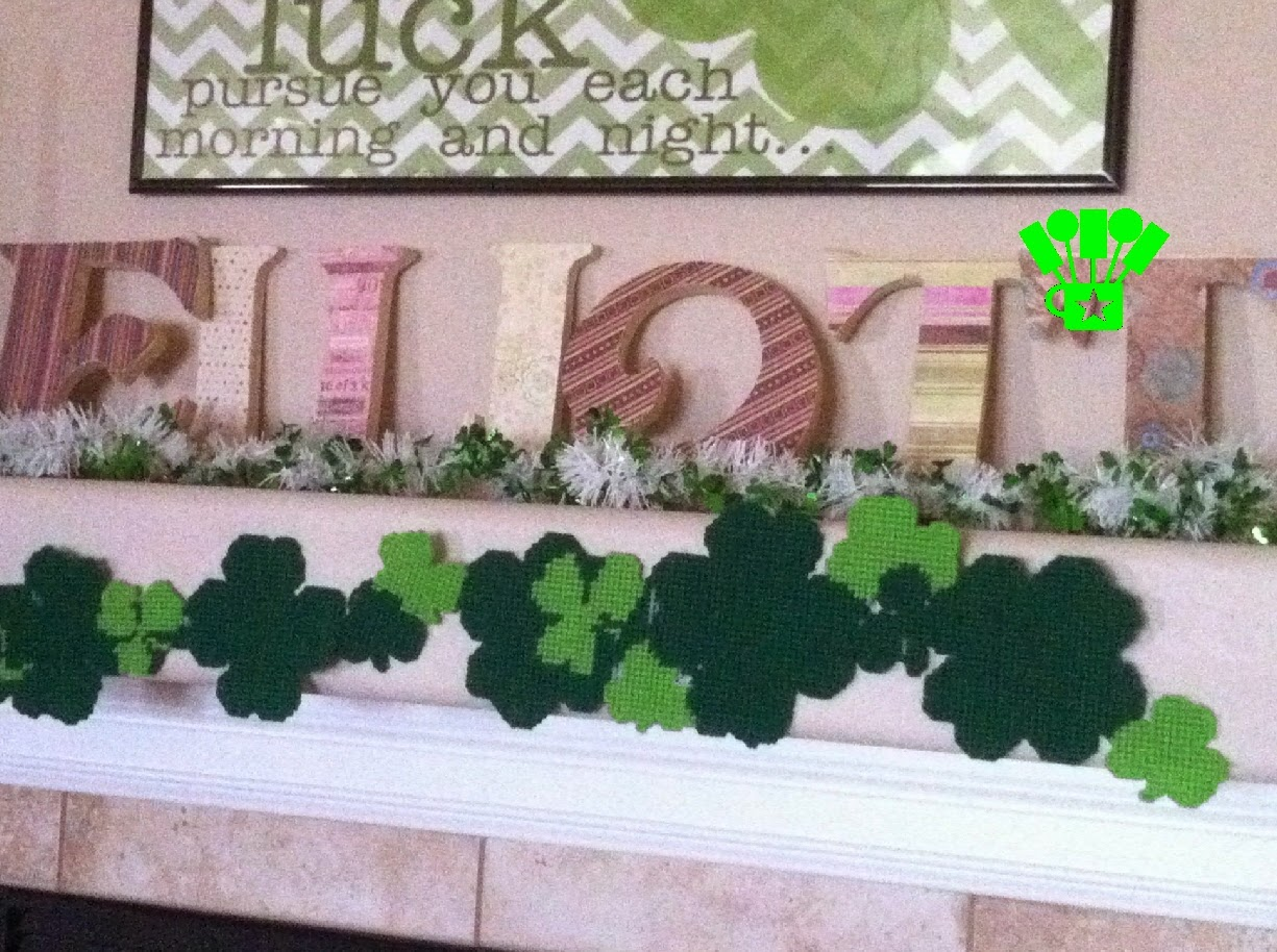 Shamrock Garland and Table Runner repurposed