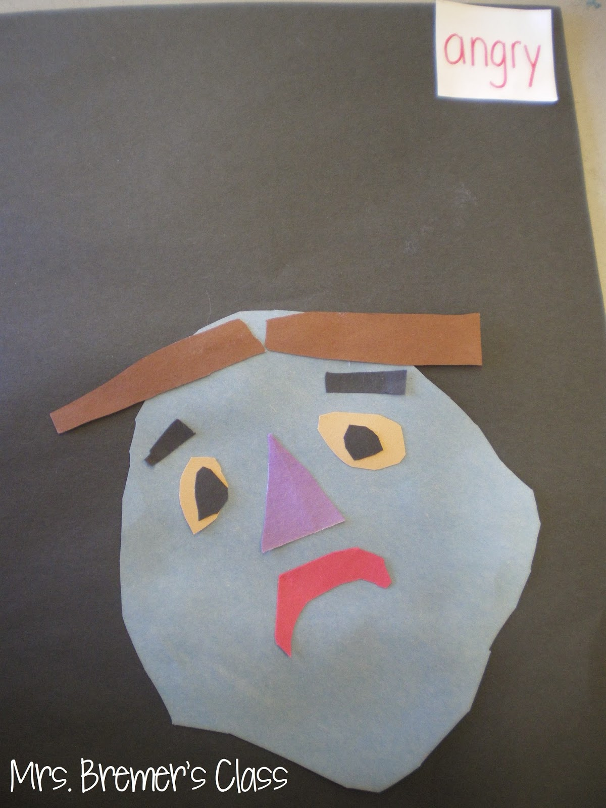 Art activities that show feelings...in Picasso's style! #kindergarten #1stgrade #kindergartenart #1stgradeart