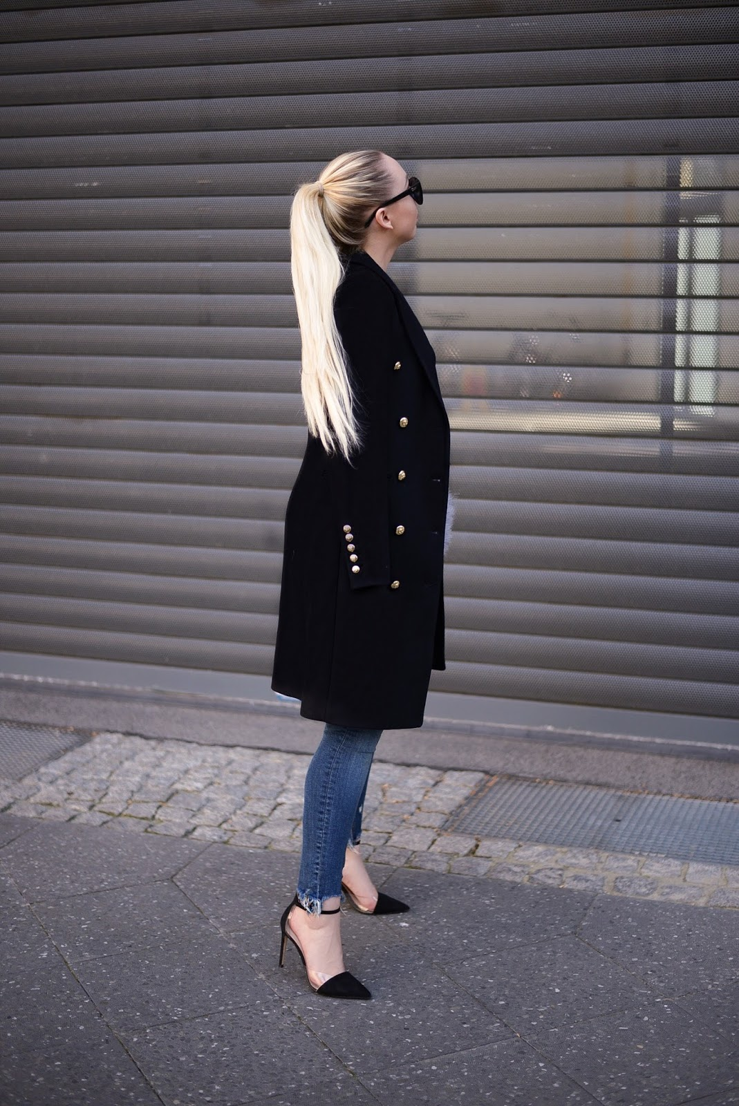 zara long crossover coat