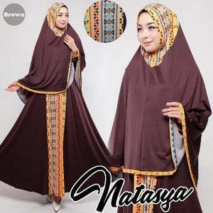 Gamis-Syar'- Murah-Natasya-brown-cantik-terbaru-model