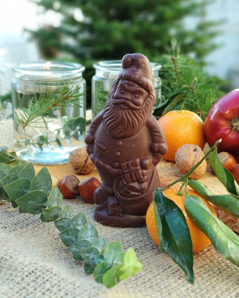 Welcher vegane Schoko Weihnachtsmann schmeckt am besten? Der große Test. | dmBio Schoko Weihnachtsmann zartbitter| #milchfrei #laktosefrei #ohnemilch #zartbitter #edelbitter #dunkleschokolade #vegan #zuckerarm #fruktosearm | judetta.de