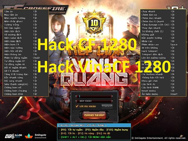 Hack CF 2018 Bản cập nhật VinaCF 1280