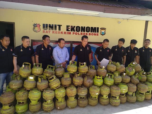 Polres Bone Berhasil Amankan 124 Tabung Gas LPG 3 Kg, Diantaranya Ada Milik Oknum Polisi