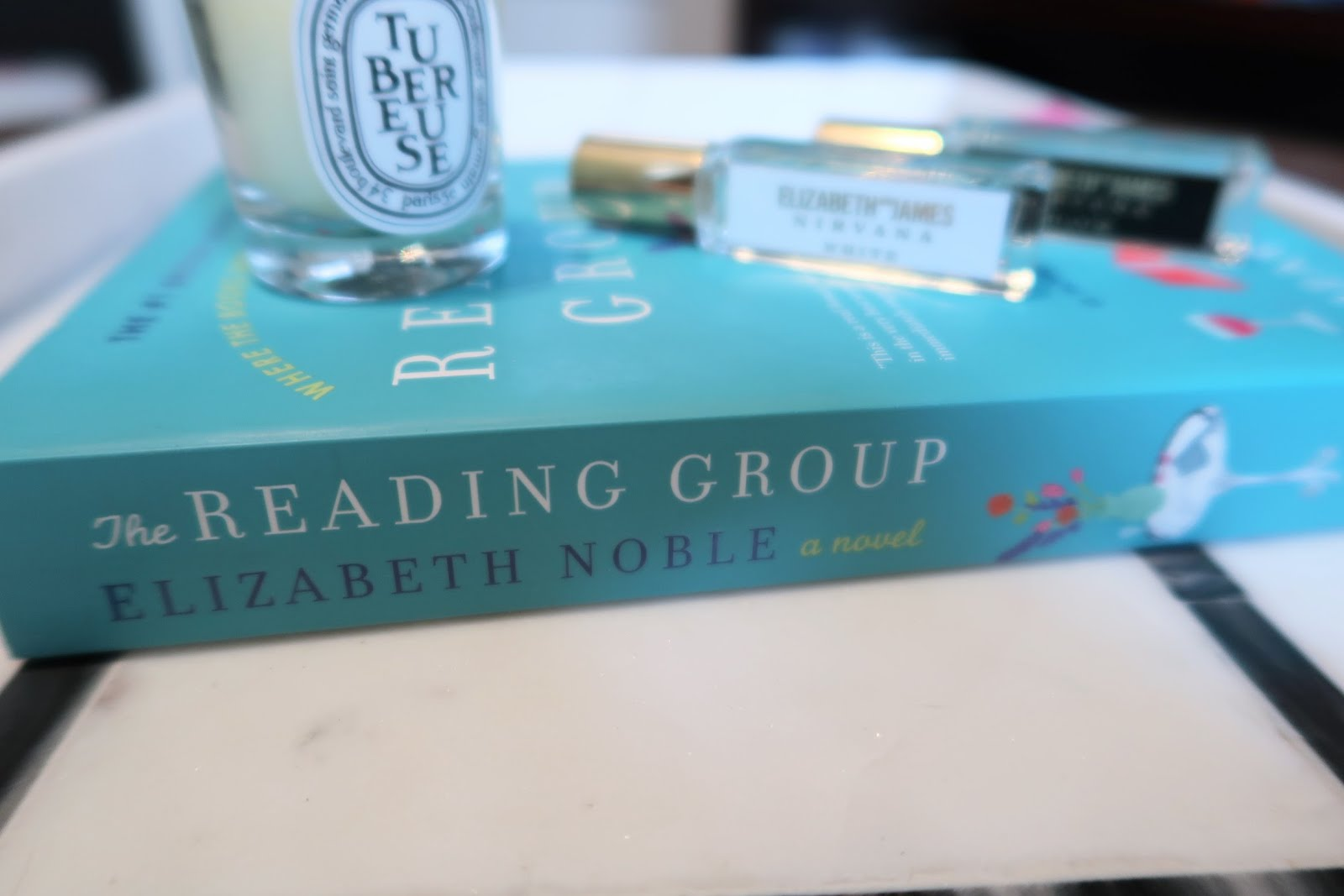 The Reading Group Elizabeth Noble book review candle perfume spine