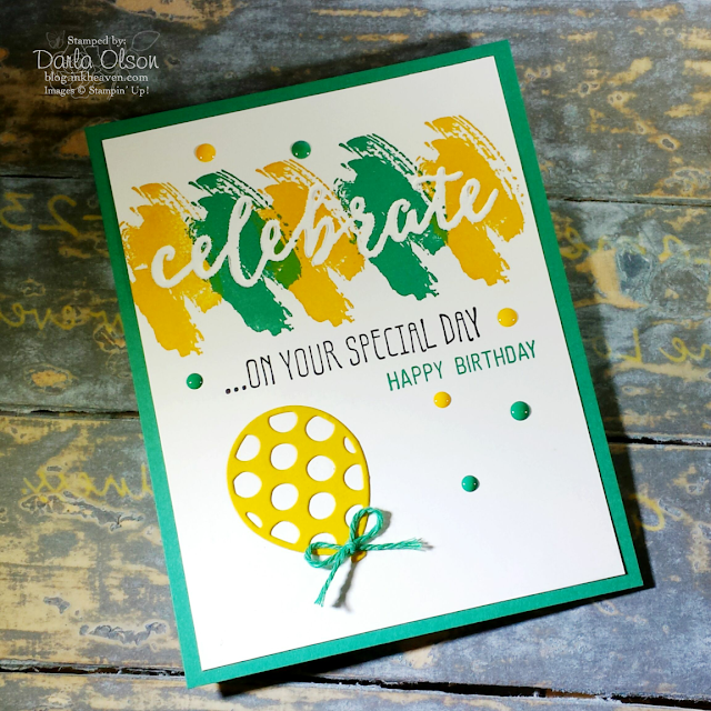 Birthday card created with Celebrations Duo and Birthday Adventures shared by Darla Olson at inkheaven