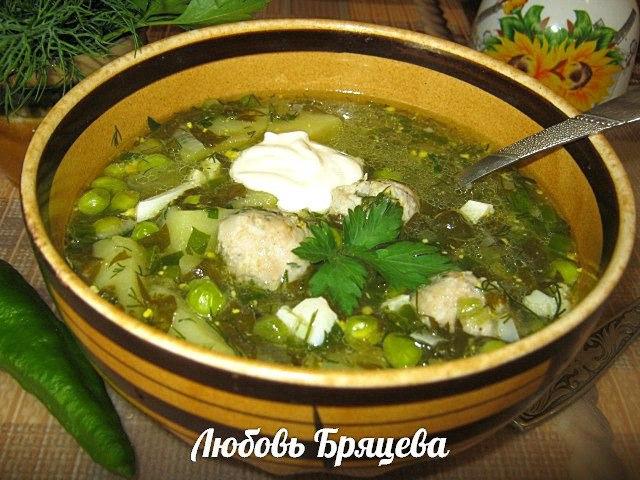 суп со свежим зеленым горошком рецепт