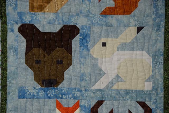 bear quilt block, hare quilt block