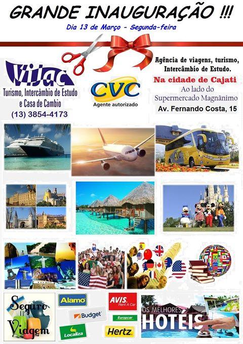 Vijac - Turismo e Casa de Câmbio inaugura filial em Cajati neste 13/03
