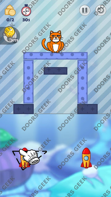 Hello Cats Level 156 Solution, Cheats, Walkthrough 3 Stars for Android and iOS