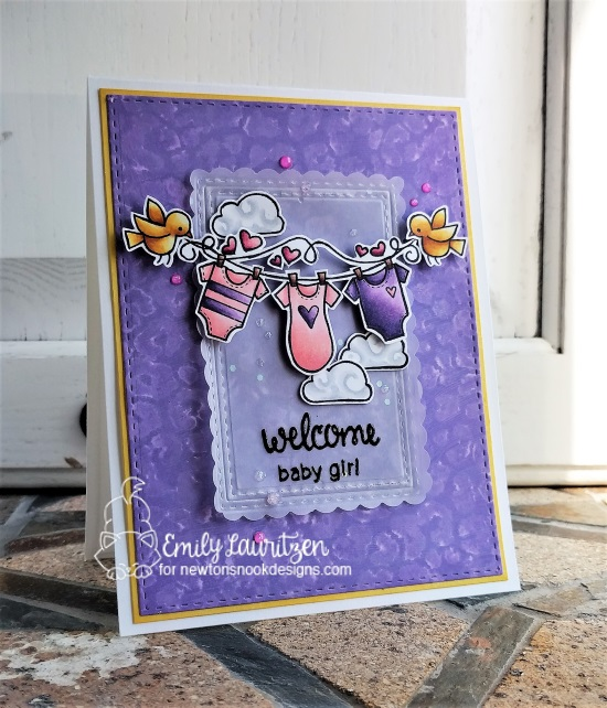 Welcome baby girl by Emily features Winged Wishes by Newton's Nook, #newtonsnook