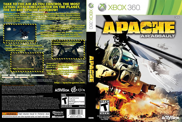 Capa xBox360 Apache Air Assault