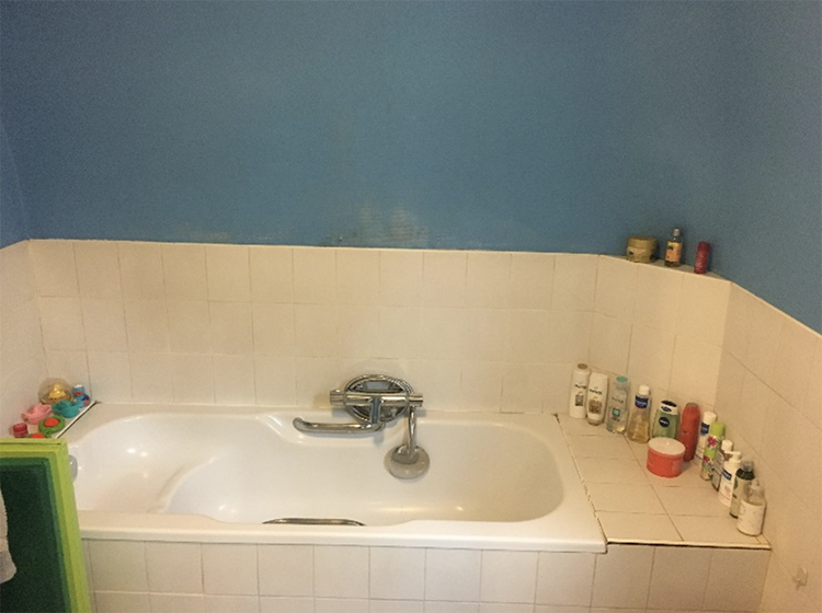New in portfolio: Marble and wood bathroom design. Before photos