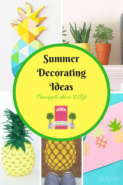 Summer Decorating Ideas - Pineapple theme + HM #185