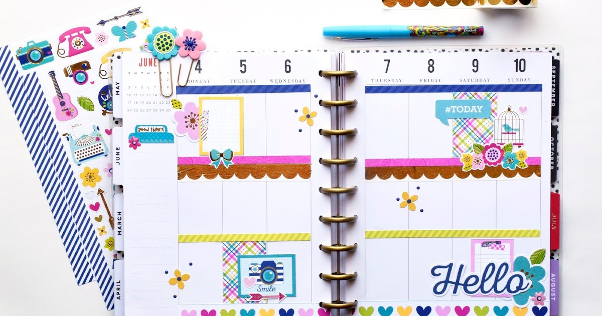 Doodlebug ~ HELLO ~ Beautiful Blooms ~ Jelly Clips