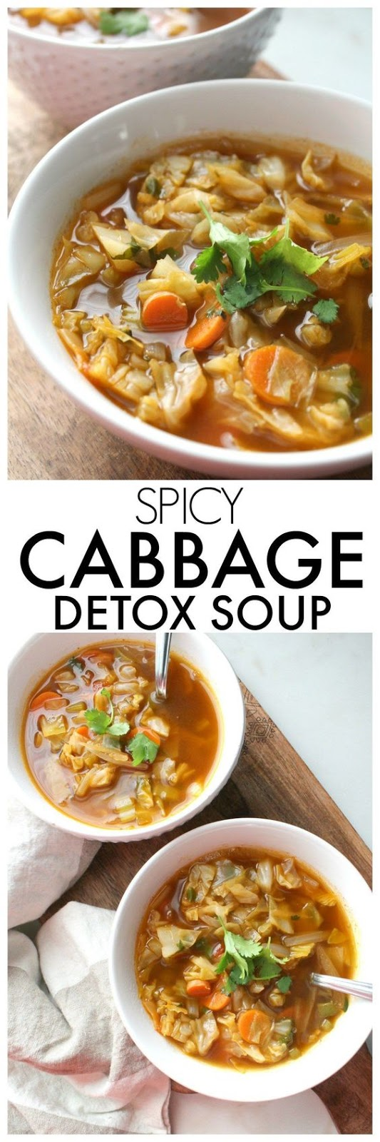 Spicy Cabbage Detox Soup
