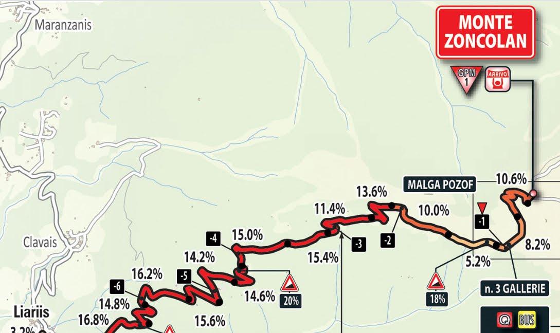 DIRETTA GIRO d'Italia ciclismo: arrivo in salita Monte Zoncolan Live Streaming, tappa da vedere gratis su Rai TV