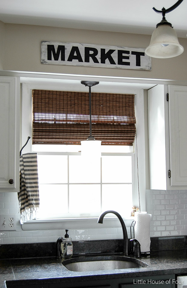 DIY market sign using scrap wood