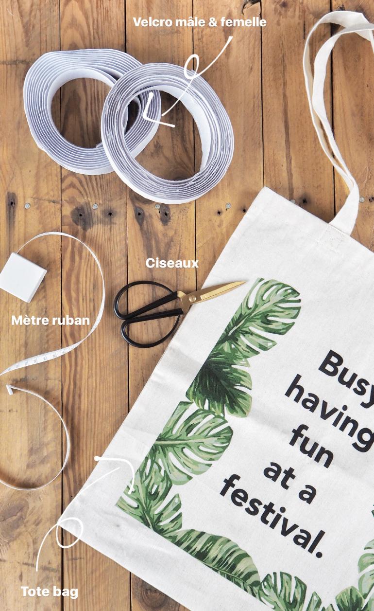 Matériel pour DIY - transformer tote bag en coussin