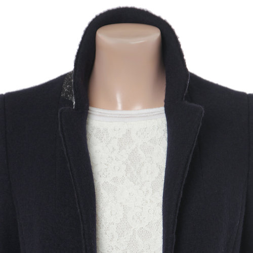 Single Breasted Notch Lapel Coat