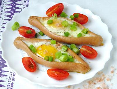parówki zapiekane z jajkiem