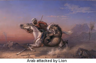 Arab Attacked by Lion