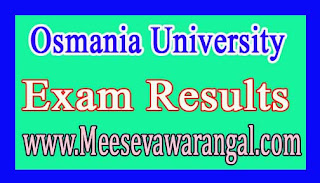 Osmania University PG (CDE) June 2016 Exam Results