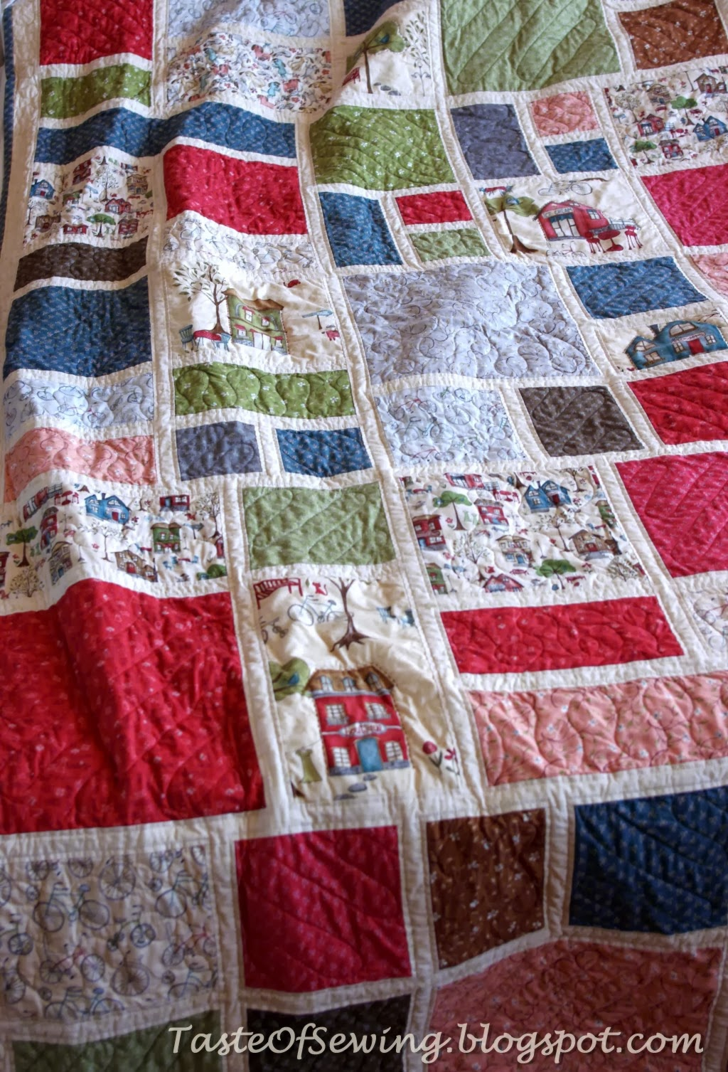 modern quilt around town by whimsicals