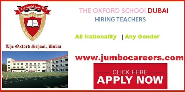 The Oxford School Dubai Latest Teacher Job Openings
