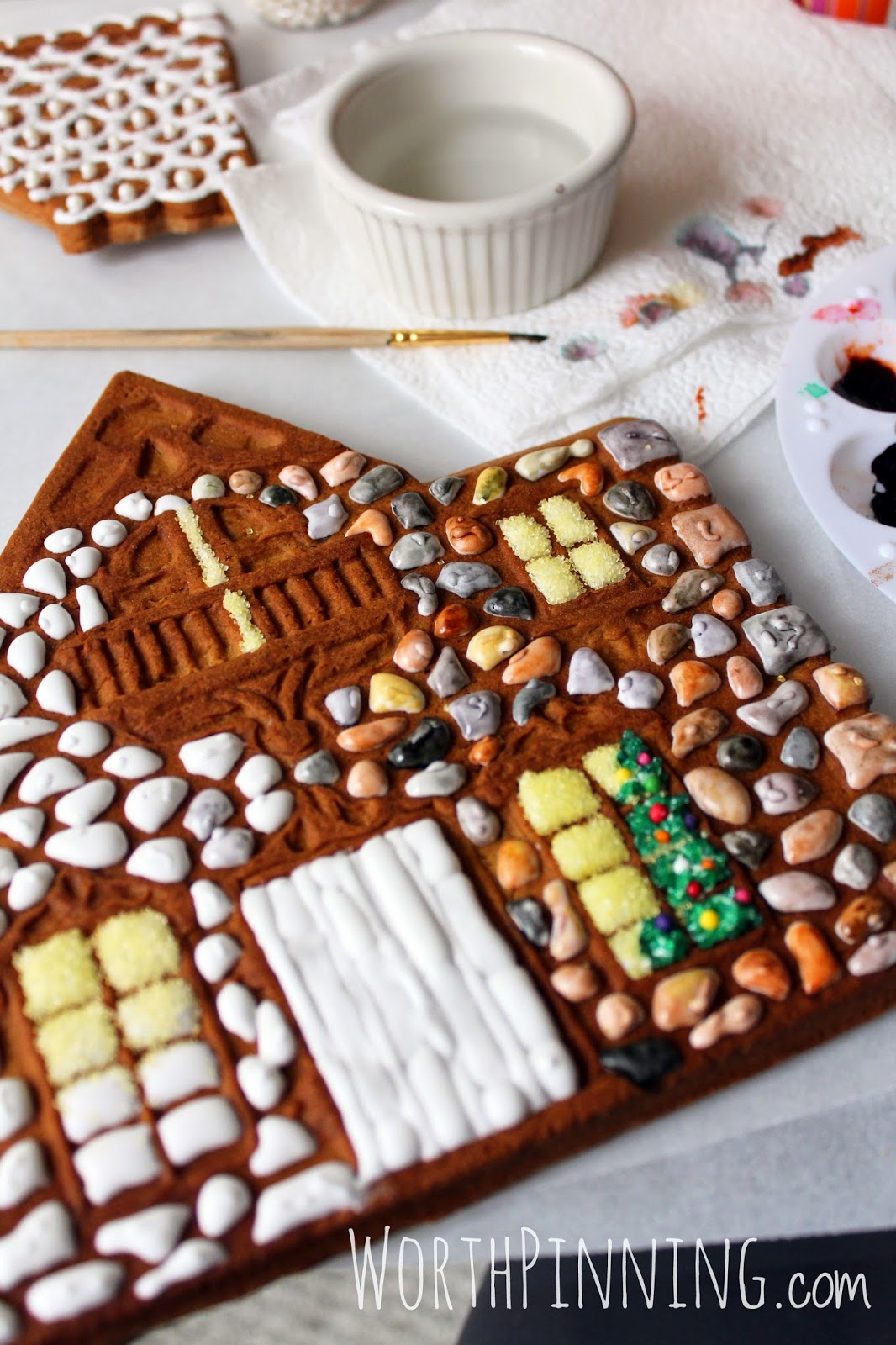 Worth Pinning Stone Gingerbread House