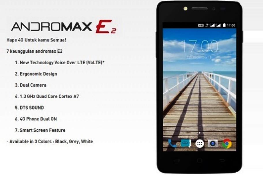 Spesifikasi Smartfren Andromax E2 4G LTE