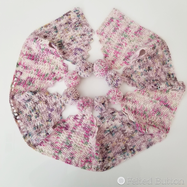 Cream Tea Shawl from Delicious Crochet Shawls book by Lisa Cook (Review by Susan Carlson of Felted Button)