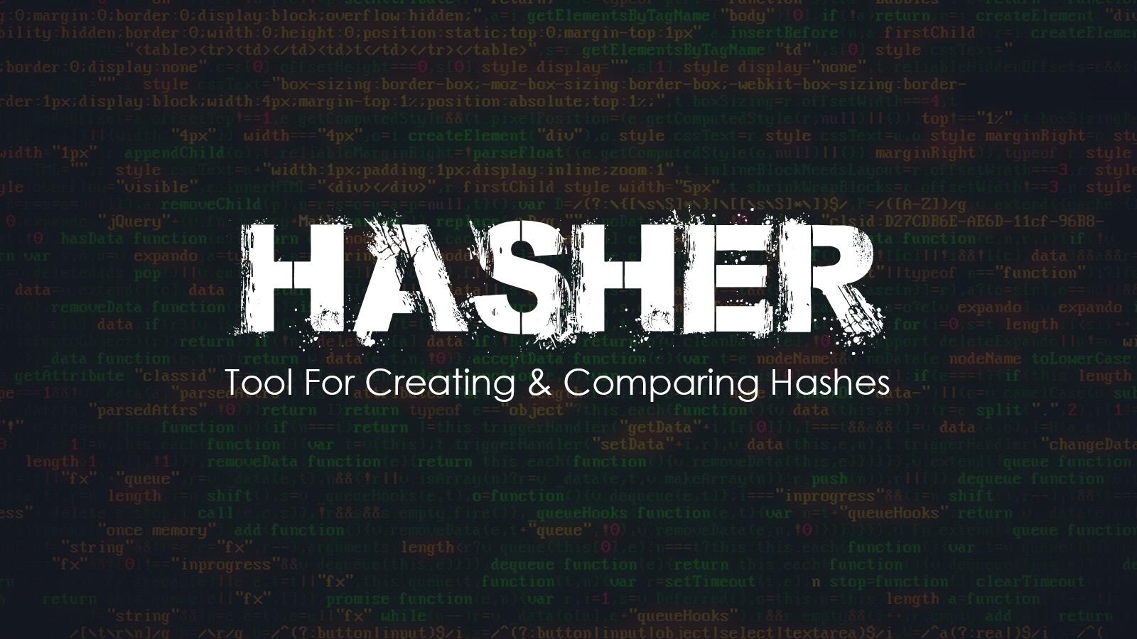 Hasher Tool