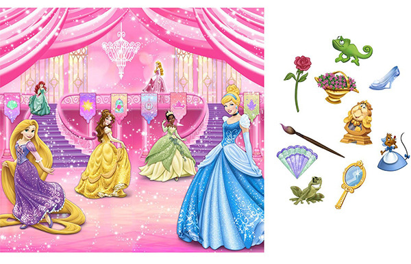 Disney Princess Dream Party Backdrop