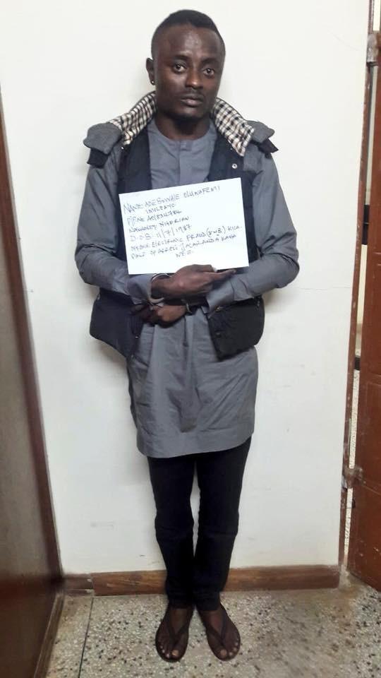 Nigerian man arrested over fraud in Kenya burst into tears