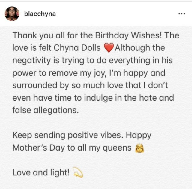 Blac Chyna looking like a bag of money as she celebrates Mother's Day