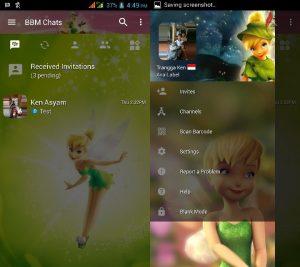 BBM MOD Tema Tinkerbell v3.3.0.16 APK Versi Terbaru