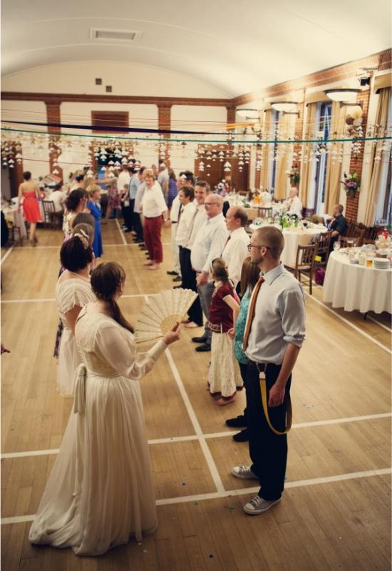 hipster wedding reception