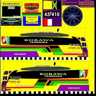 Download Livery Bus Luragung Jaya Korawa terbaru