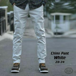 celana chino, celana chino putih, celana chino pria