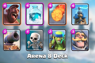 Kombinasi Kartu (Battle Deck) Clash Royale Terbaik Arena 8