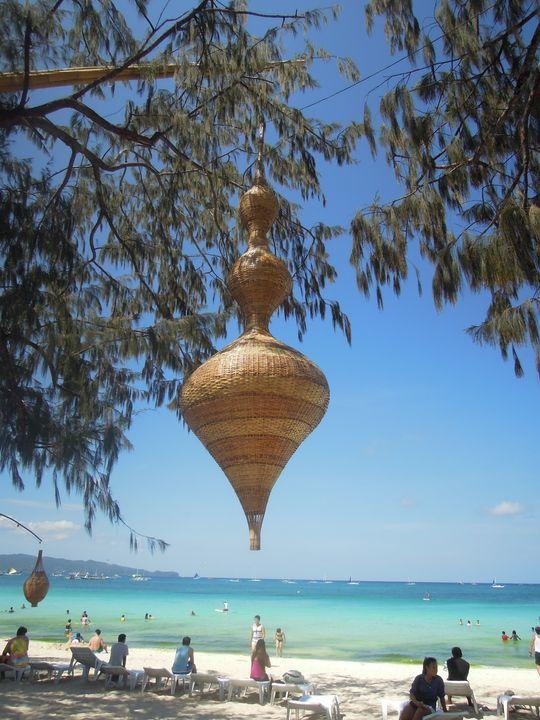 A giant native decor in Boracay